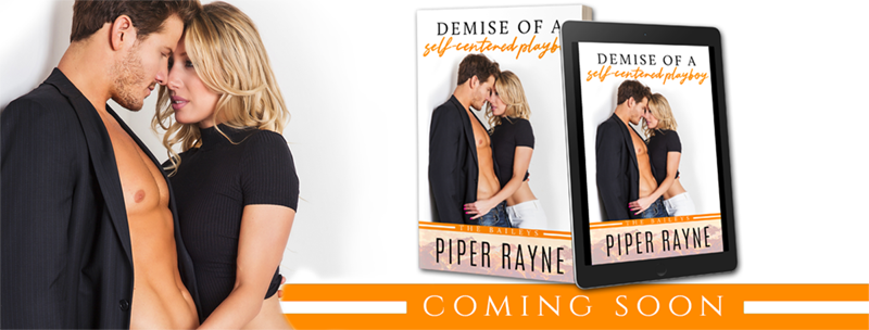 Demise of a Self-Centered Playboy by Piper Rayne - Cover Reveal