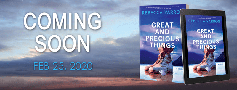 Great and Precious Things by Rebecca Yarros - Cover Reveal