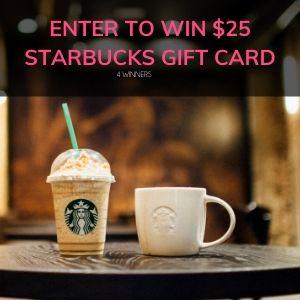 $25 Starbucks GC-4 Winners